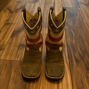 Old West Flag Boots
